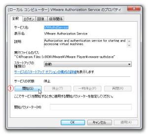(ローカル コンピューター) VMware Authorization Service