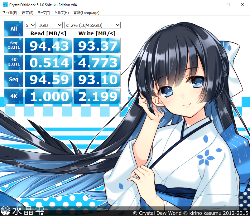 CrystalDiskMark  ST1000LM014